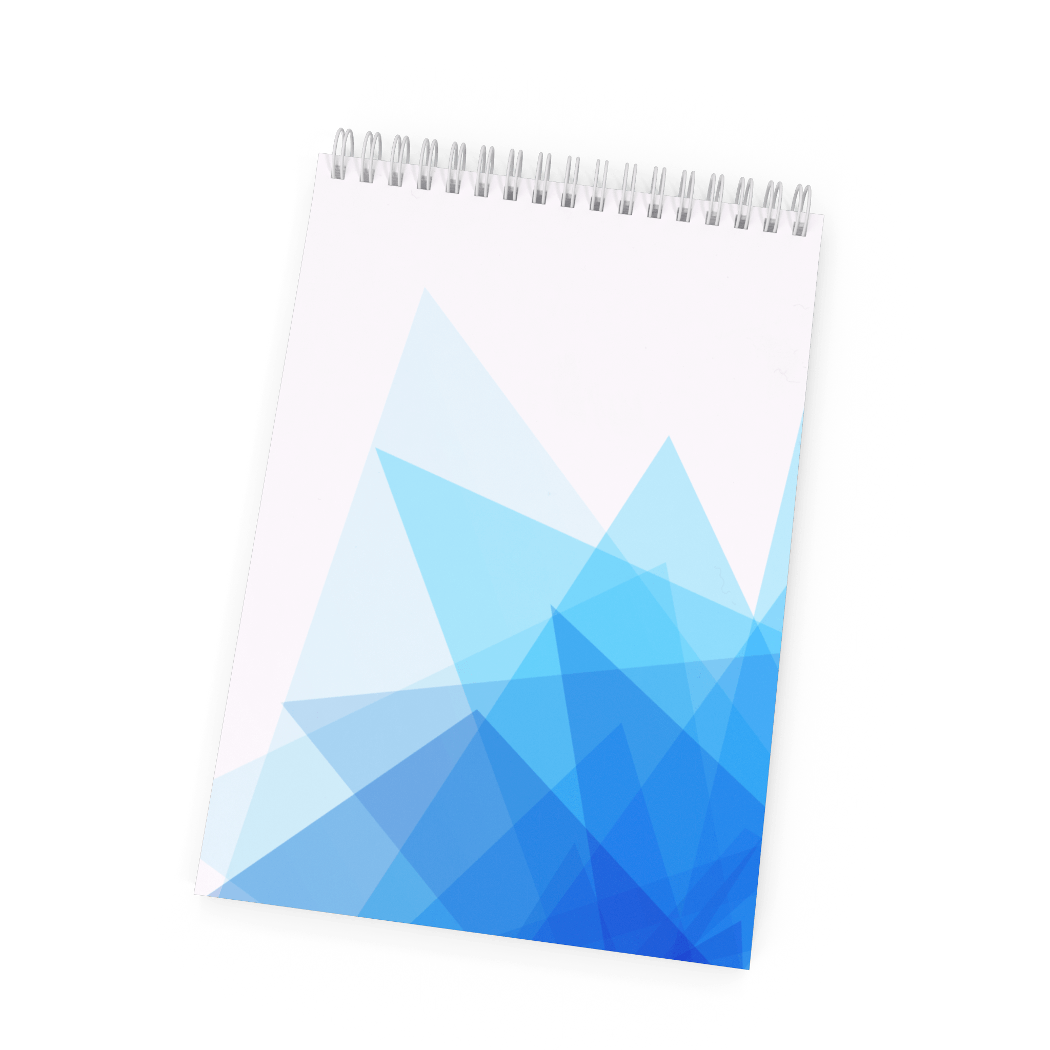 Spiral Notebook with Blue Geometric Pattern.B01.2k